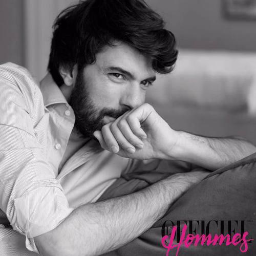 """Engin Akyürek dans le magazine """"l'Officiel Hommes"""" 2015"""